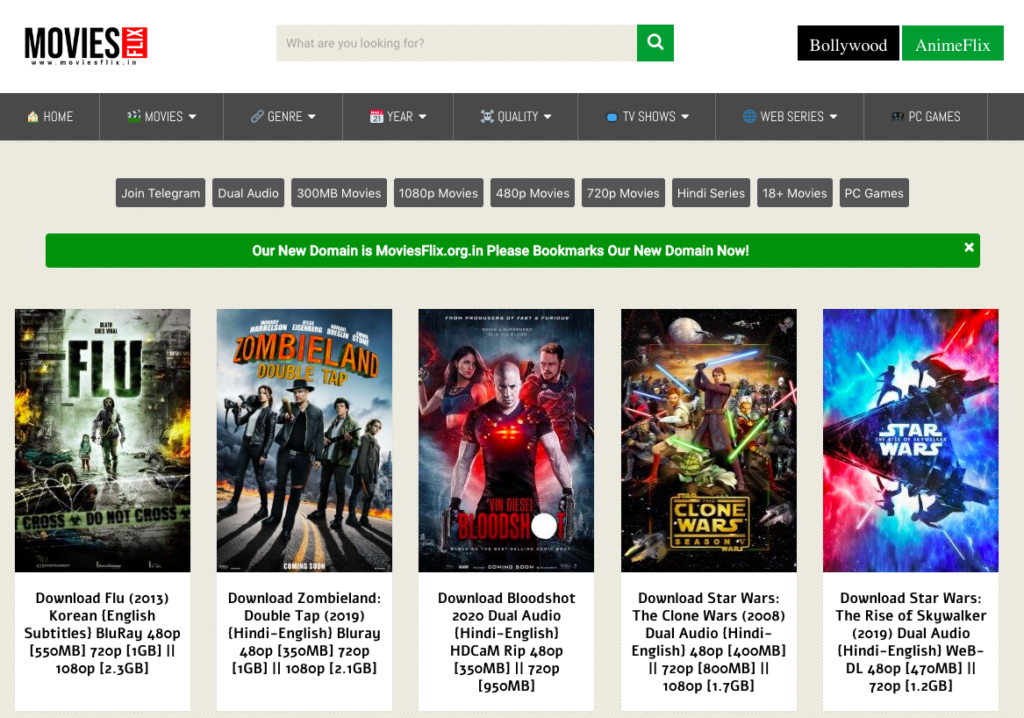 MoviesFlix: 300 MB, 480 MB, Download Bollywood movies, Free South Indian movies 1
