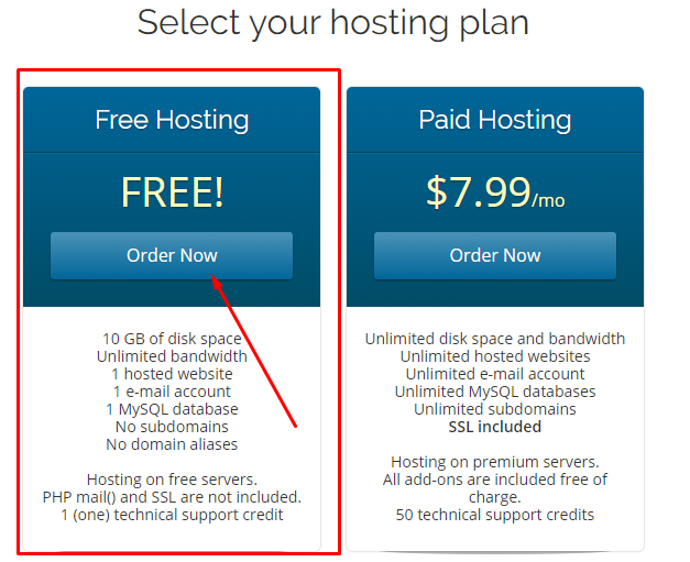 Free Web Hosting: How To Get Free Wordpress and Cpanel 4